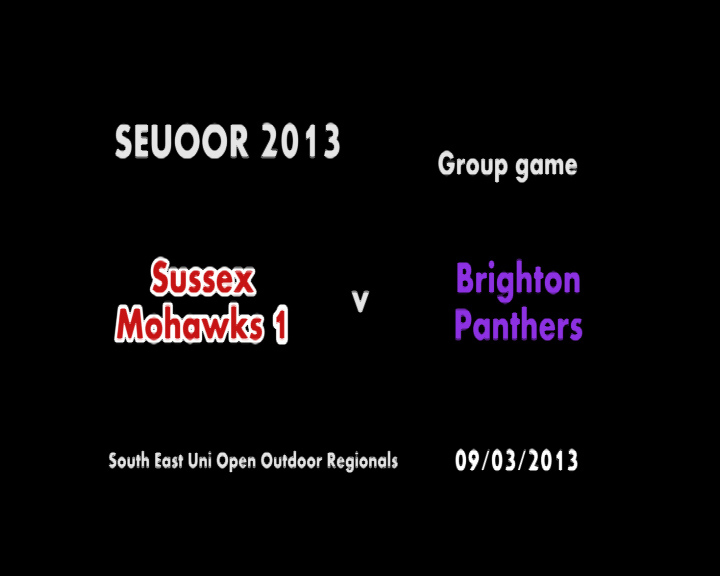 SEUOOR 2013: Mohawks 1 v Panthers