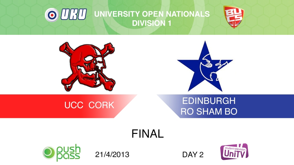 Uni Nationals 2013: Open Final - Cork v Edinburgh (HD)