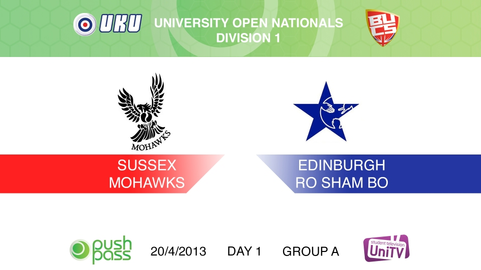 Uni Nationals 2013: Sussex v Edinburgh