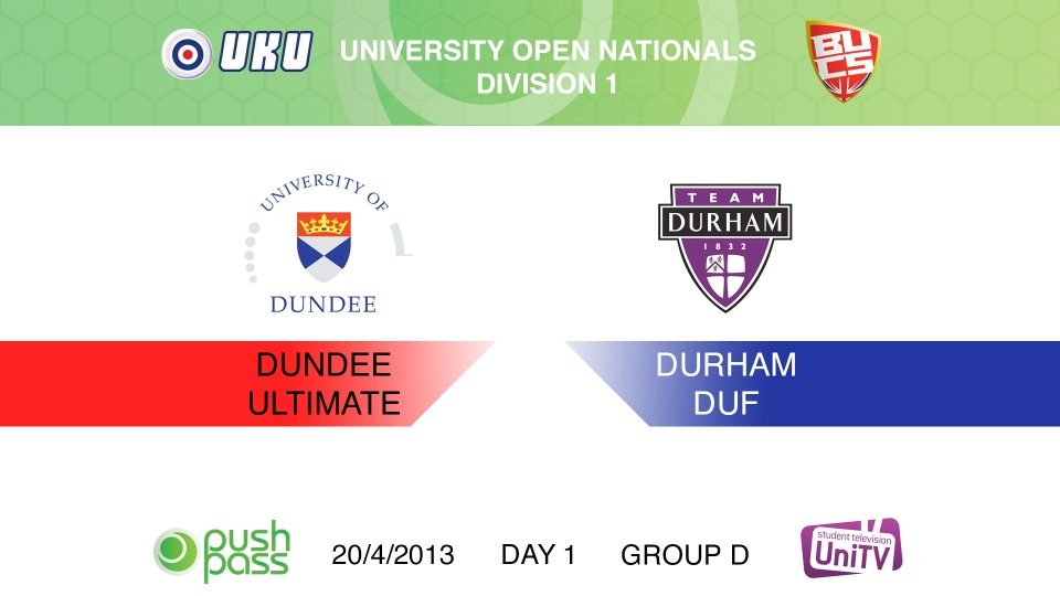 Uni Nationals 2013: Dundee v Durham