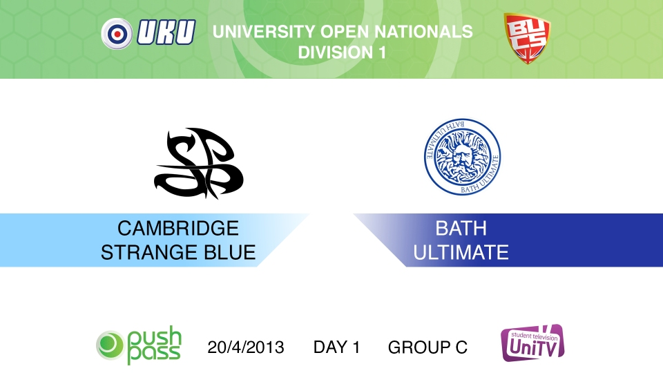 Uni Nationals 2013: Bath v Cambridge