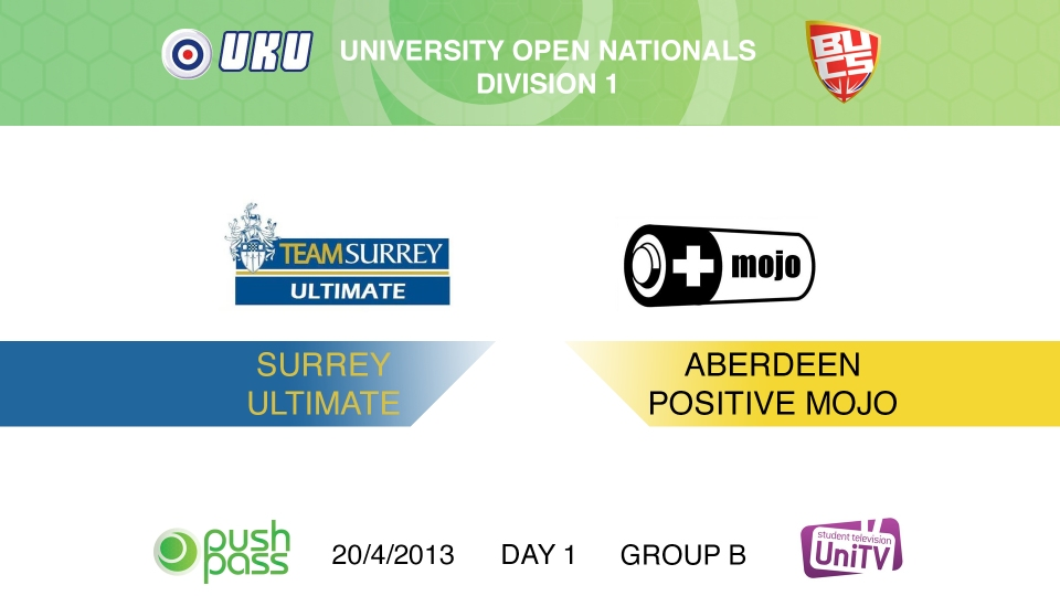 Uni Nationals 2013: Surrey v Aberdeen (HD)