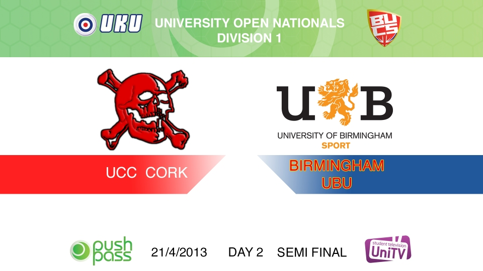 Uni Nationals 2013: Semi Final - Cork v Birmingham (HD)