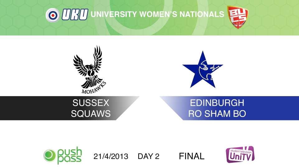 Uni Nationals 2013: Women's Final - Sussex v Edinburgh (HD)