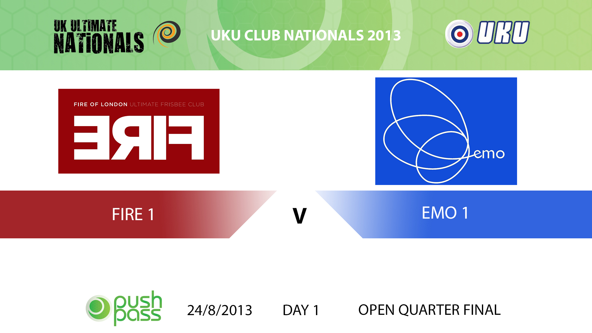 UKU Club Nationals 2013: Fire 1 v EMO 1