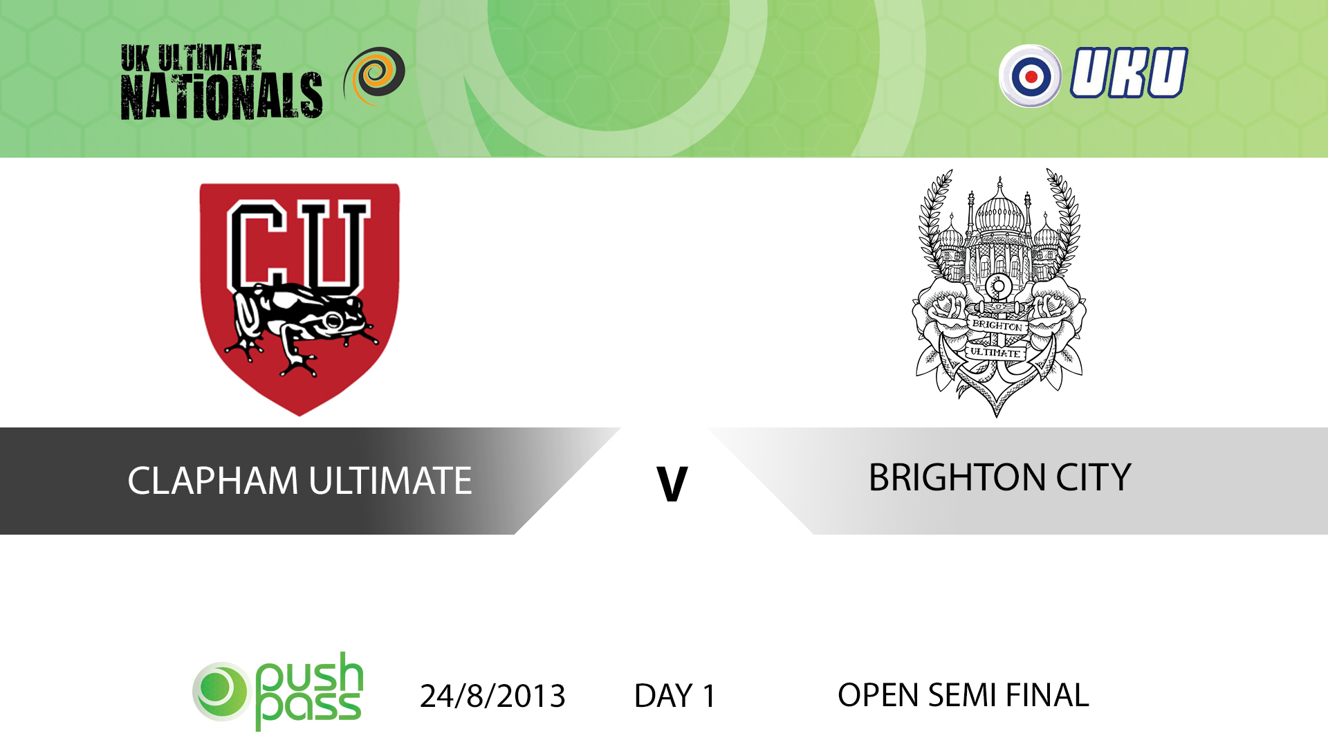 UKU Club Nationals 2013: Open Semi - Clapham v Brighton City