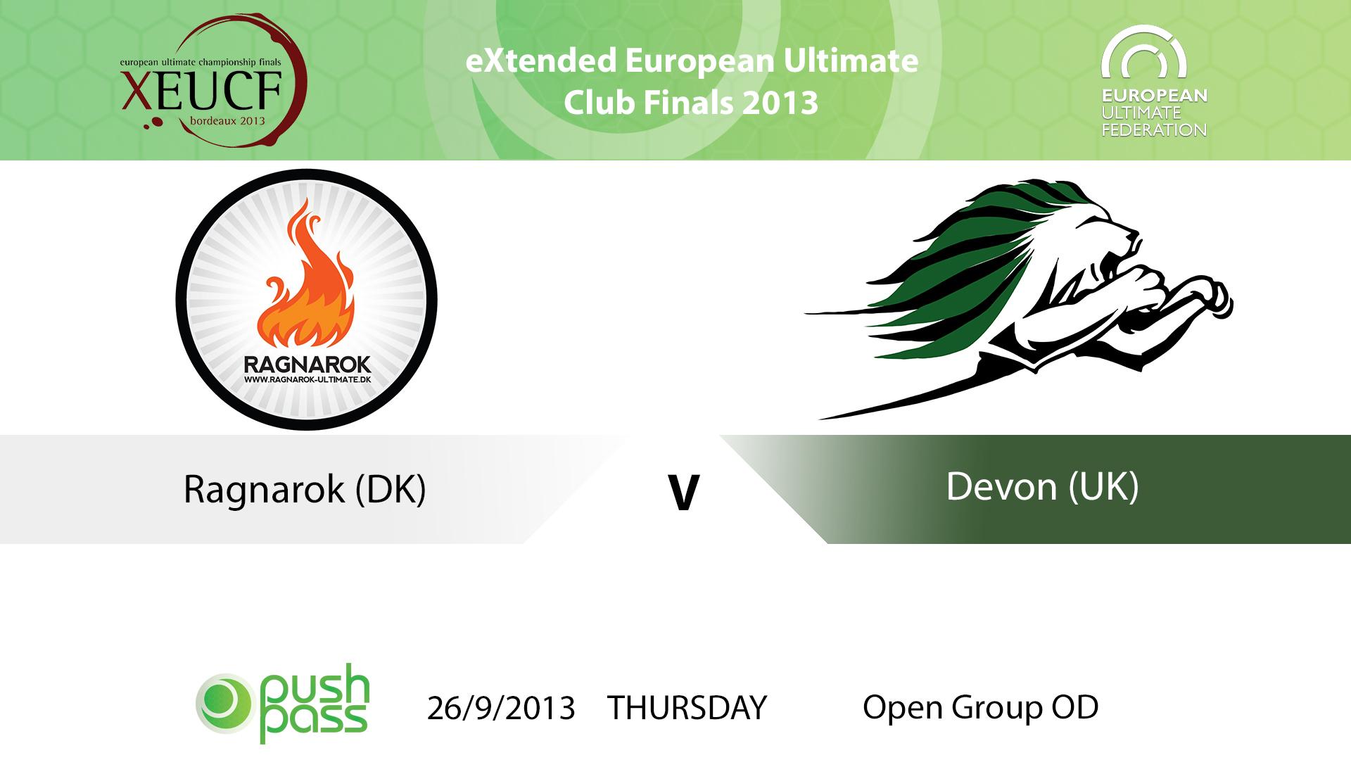 XEUCF 2013: Open - Ragnarok v Devon