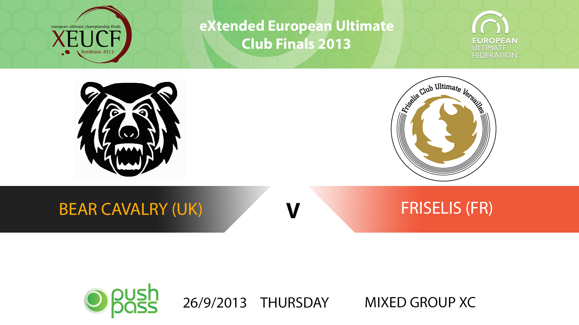 XEUCF 2013: Mixed - Bear Cavalry v Friselis