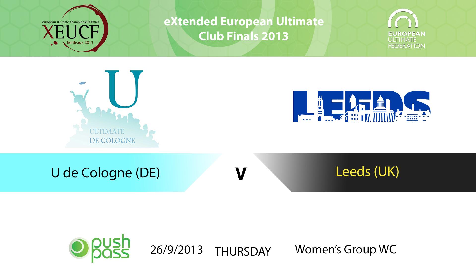 XEUCF 2013: Women's - U de Cologne v Leeds