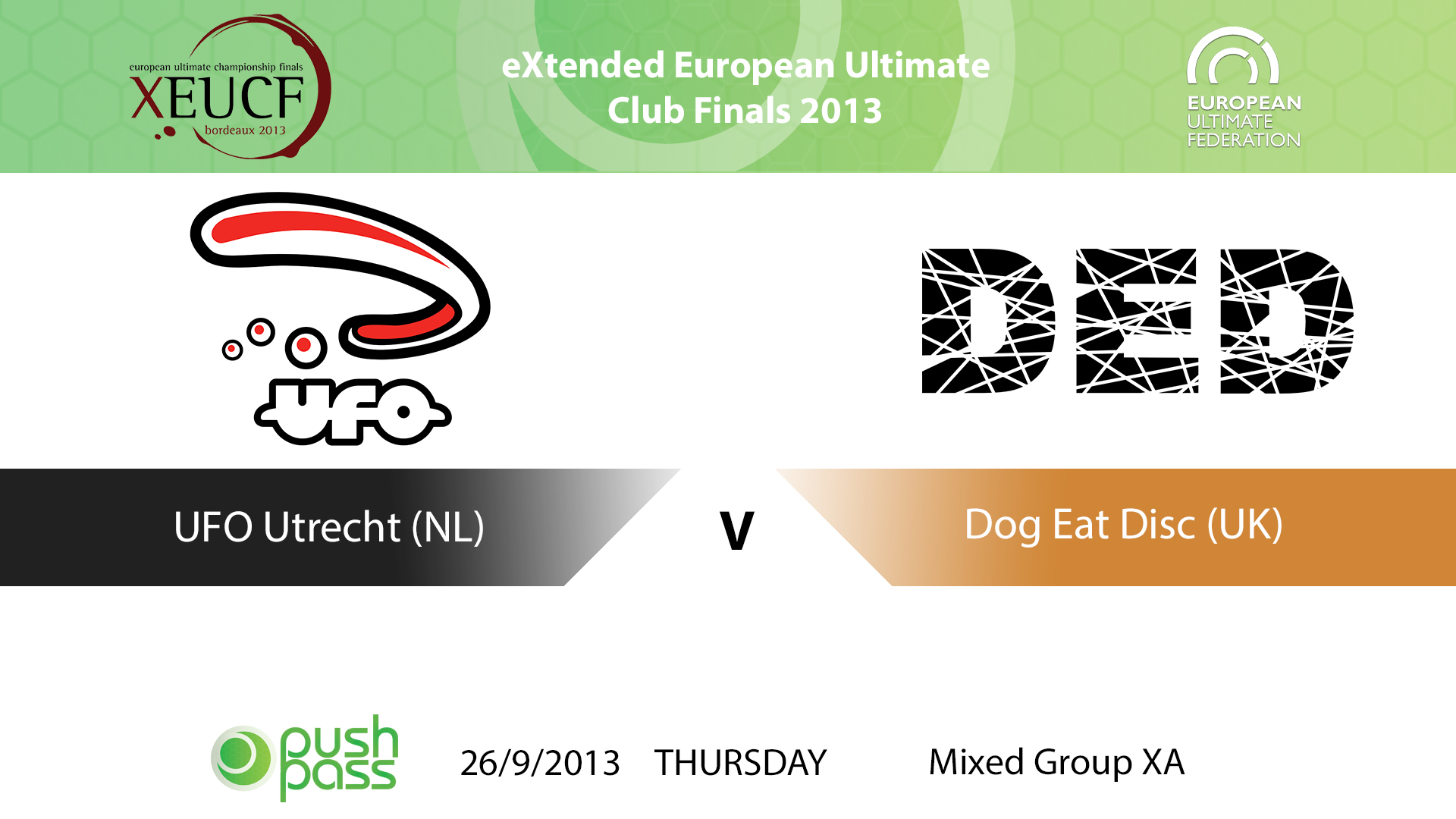 XEUCF 2013: Mixed - UFO Utrecht v Dog Eat Disc