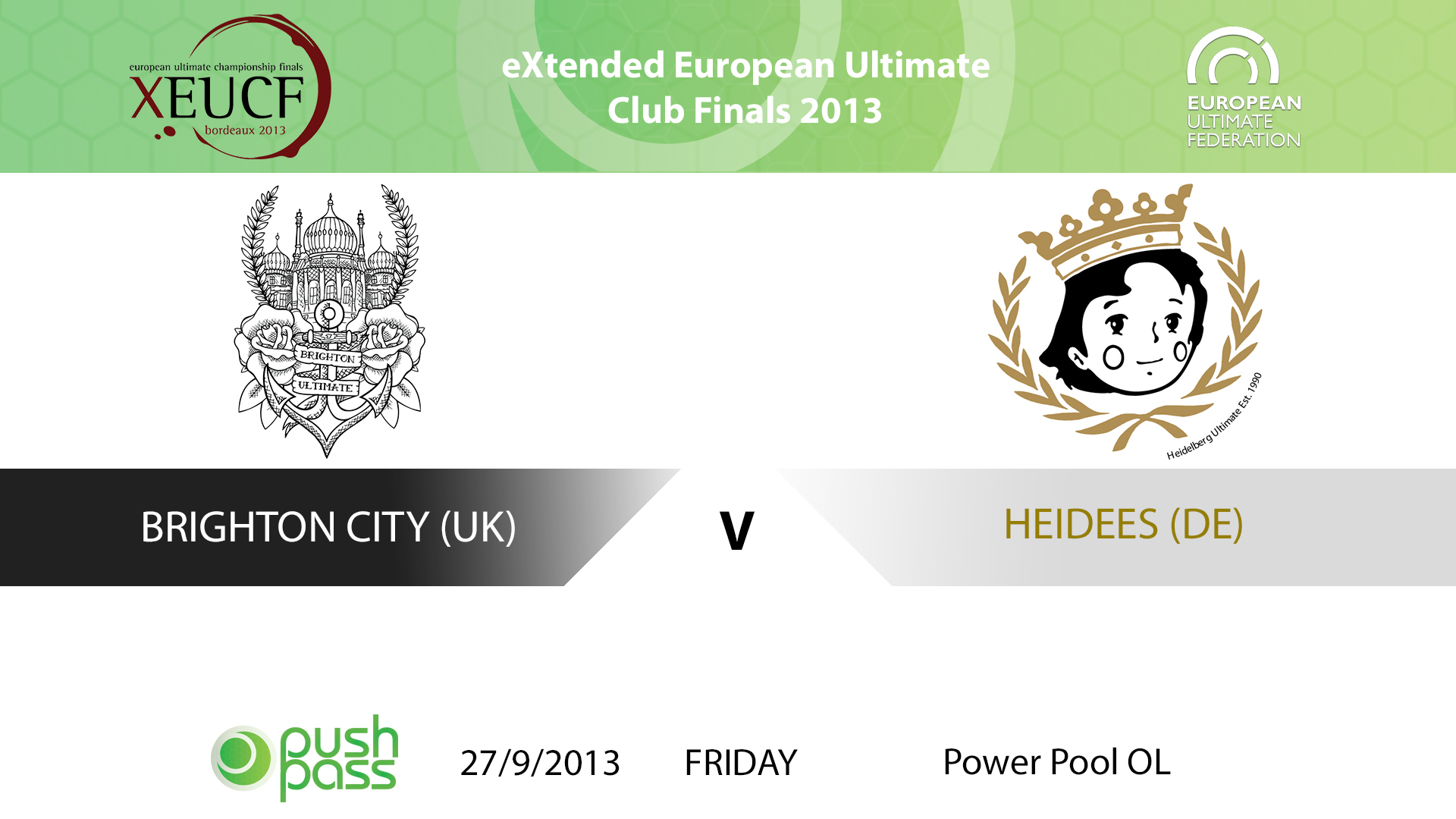 XEUCF 2013: Open - Heidees v Brighton City