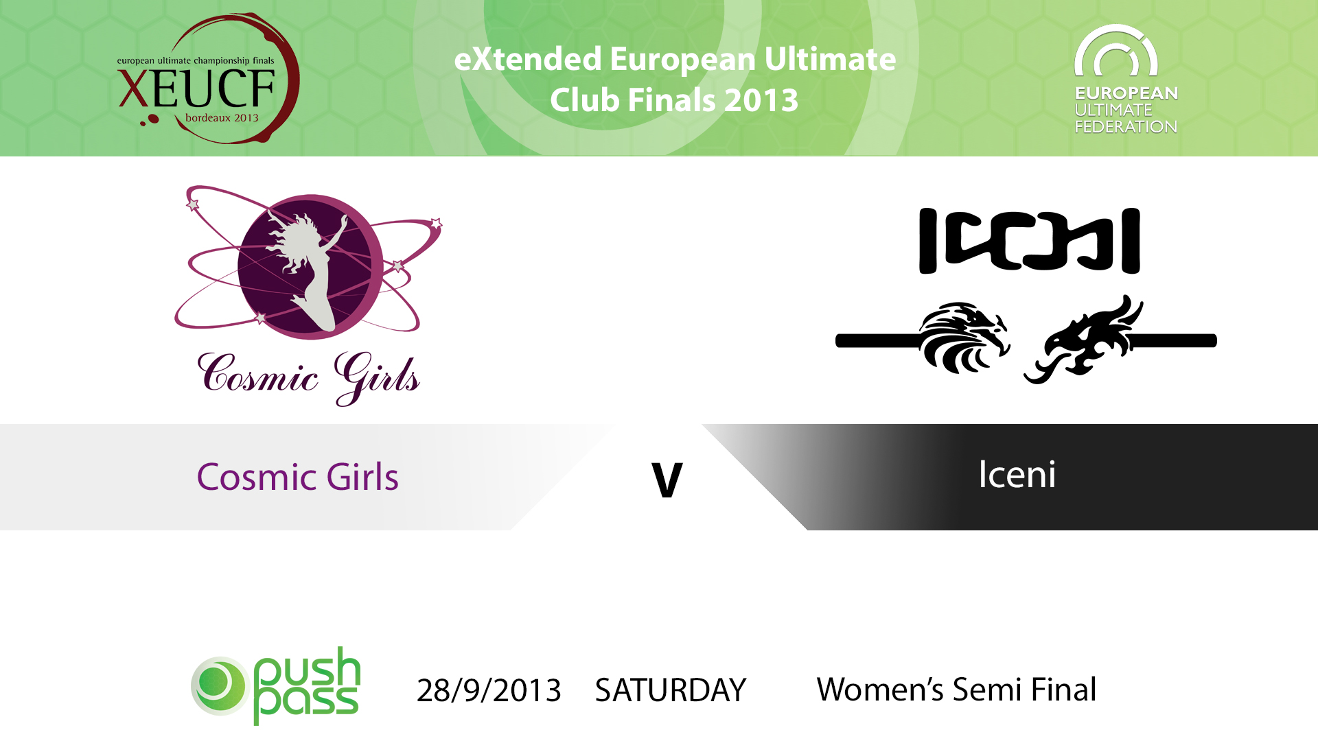 XEUCF 2013: Women's Semi - Cosmic Girls v Iceni