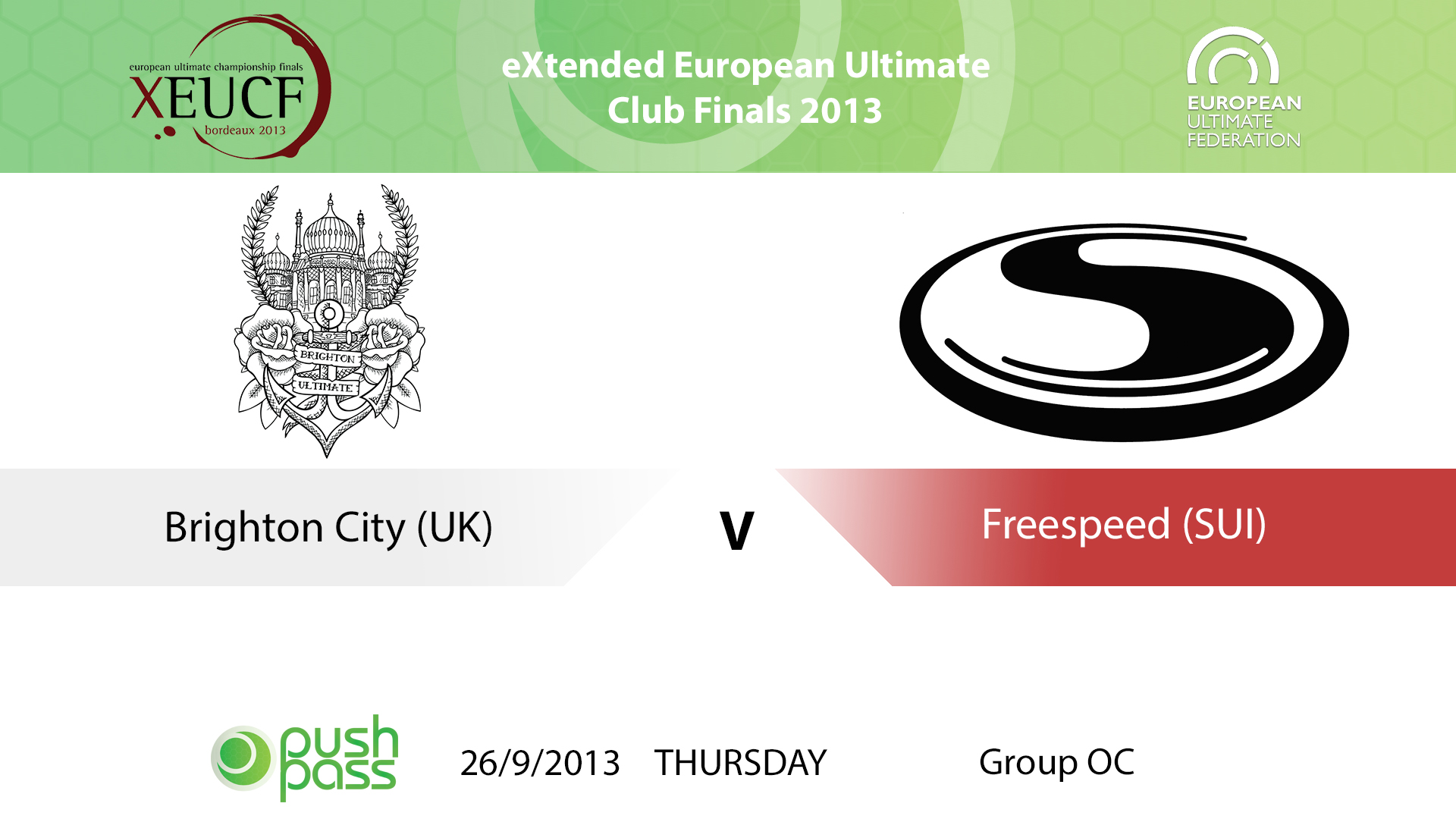 XEUCF 2013: Open - Brighton City v Freespeed