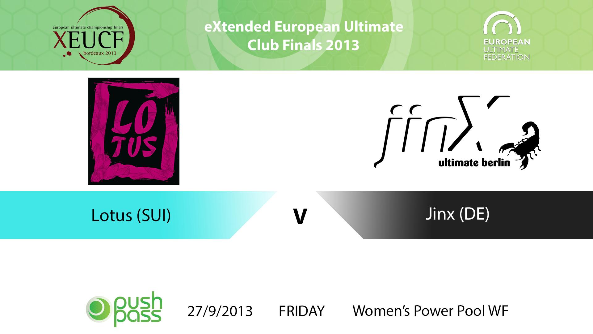 XEUCF 2013: Women's - Lotus v Jinx