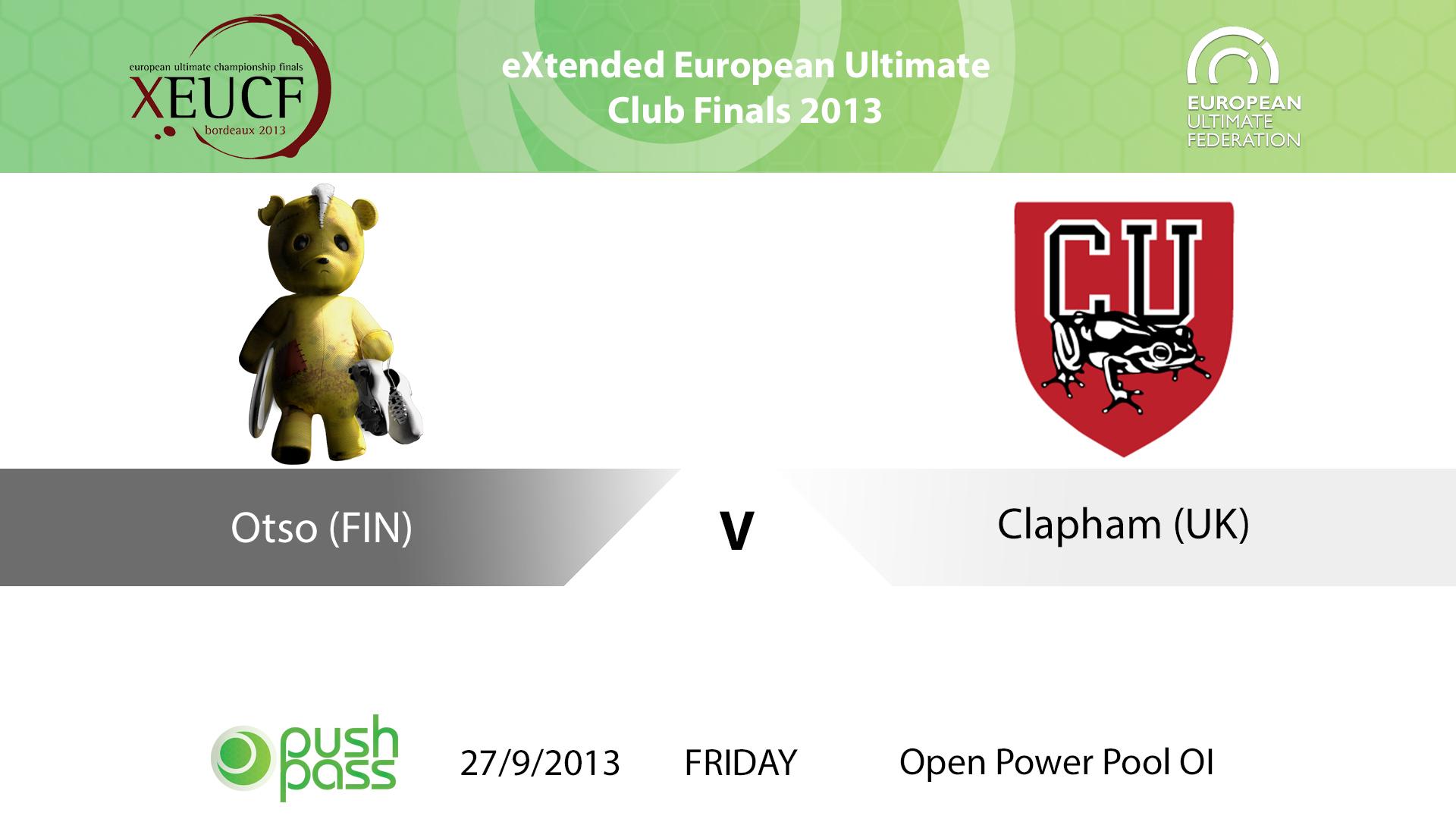 XEUCF 2013: Open - Otso v Clapham