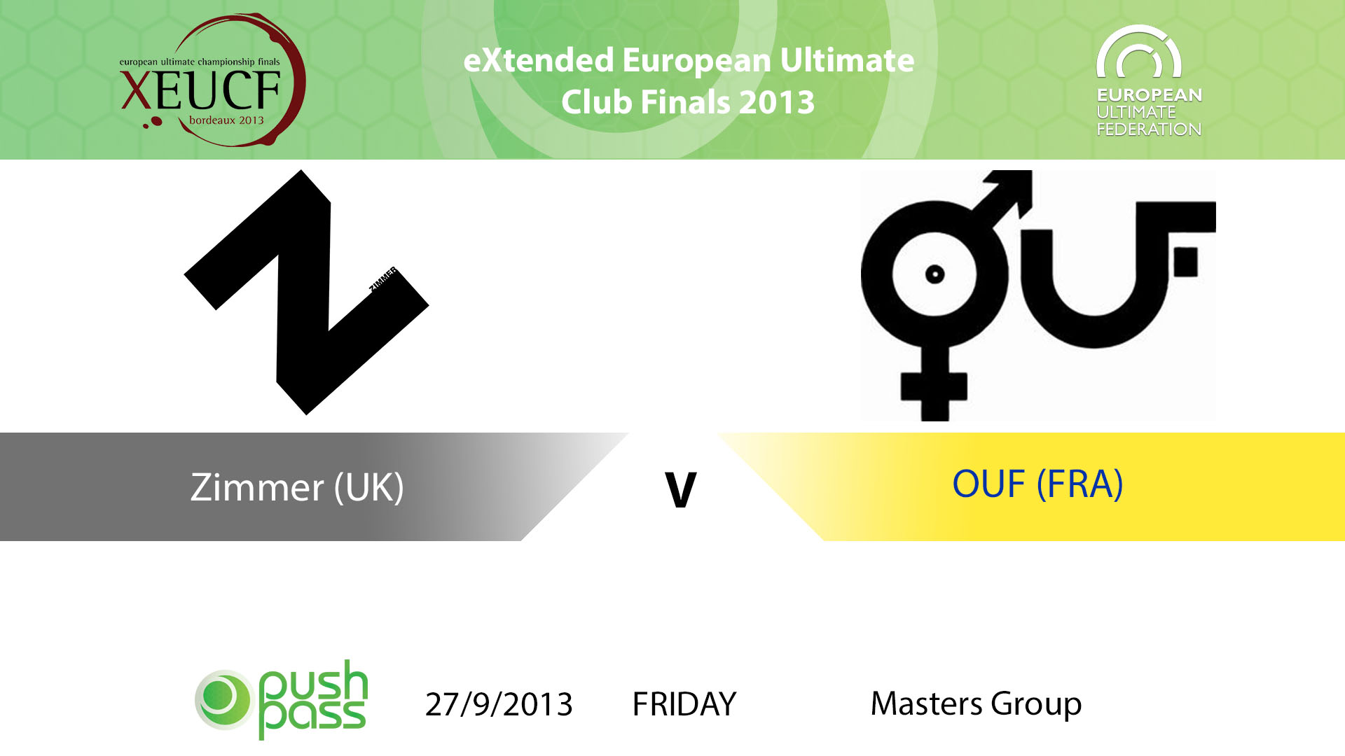 XEUCF 2013: Masters - Zimmer v OUF