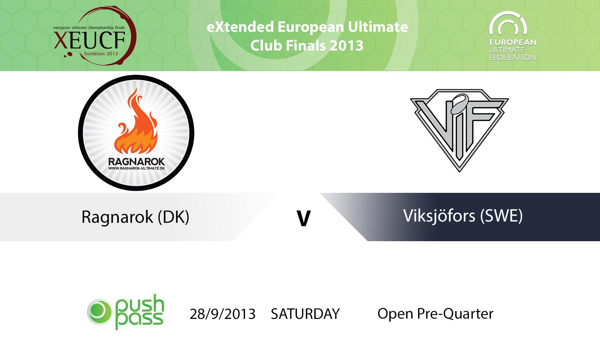 XEUCF 2013: Open - Ragnarok v Viksjofors
