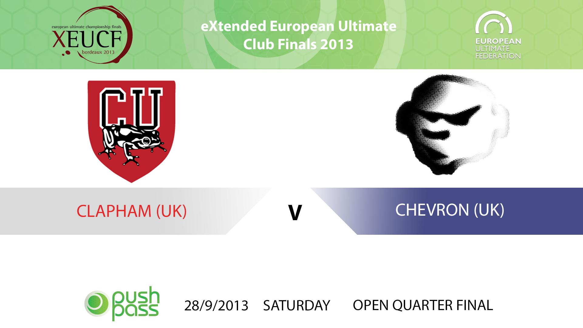 XEUCF 2013: Open QF - Clapham v Chevron