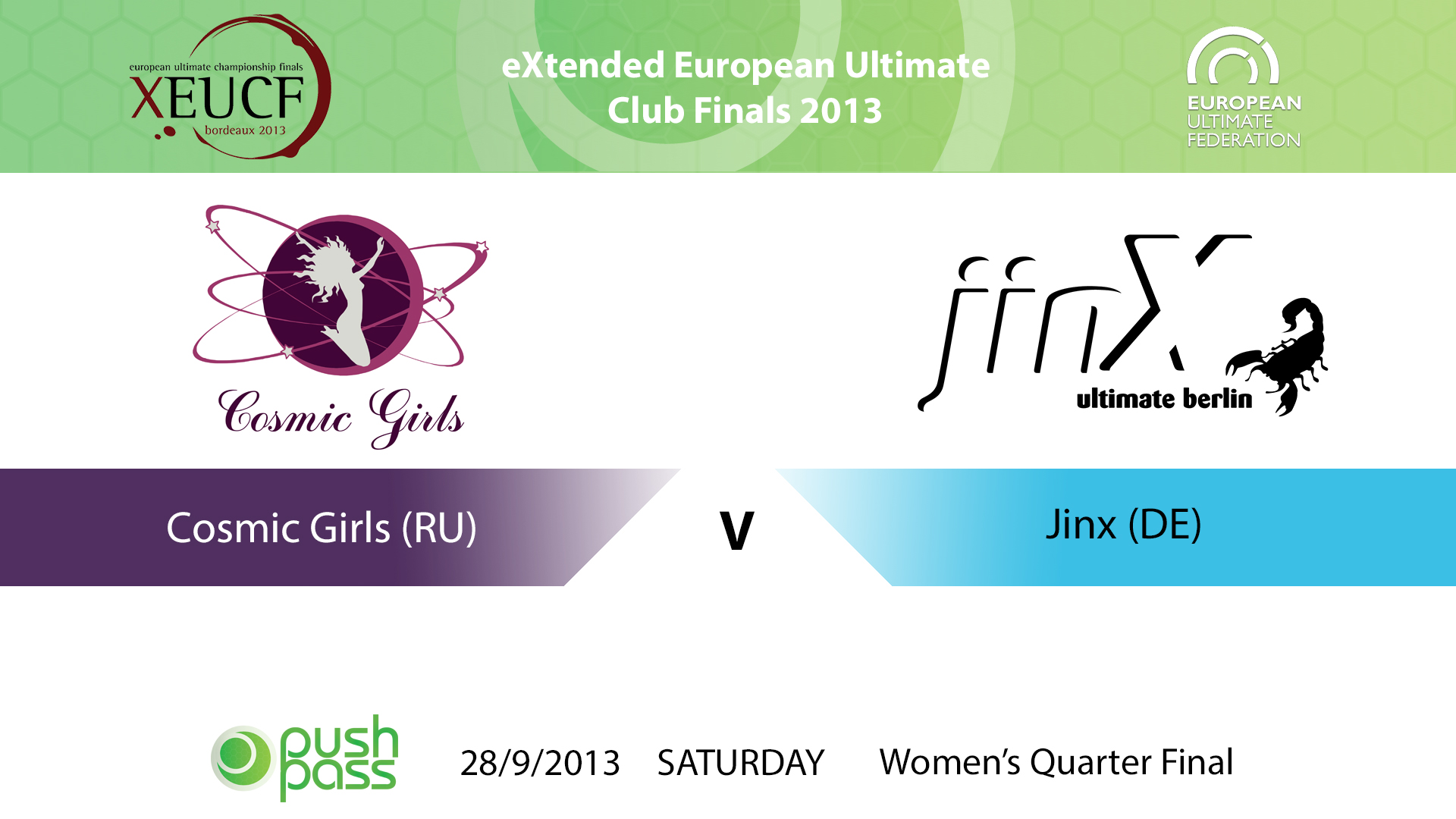XEUCF 2013: Women's - Cosmic Girls v Jinx