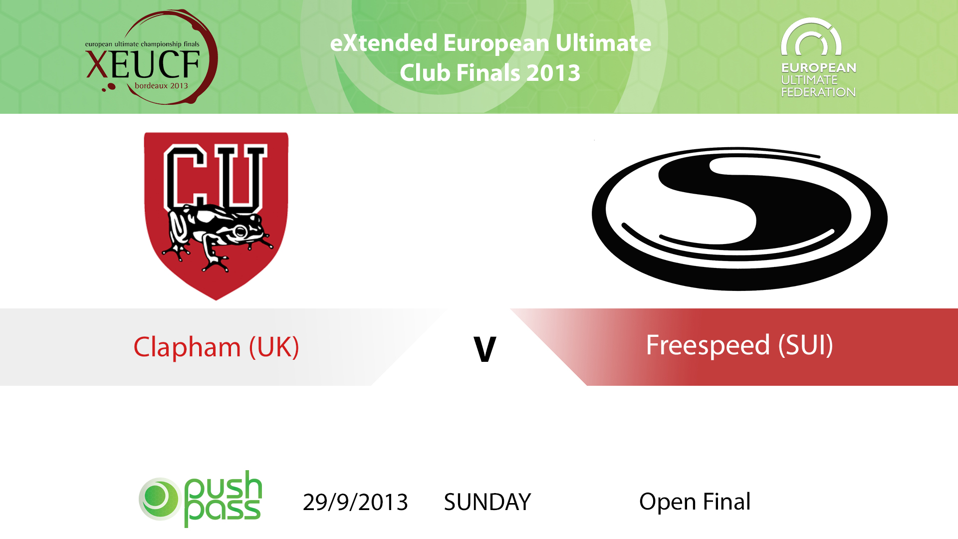 XEUCF 2013: Open Final - Clapham v Freespeed