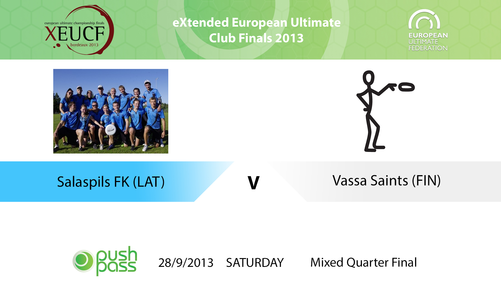 XEUCF 2013: Mixed - Salaspils FK v Vaasa Saints