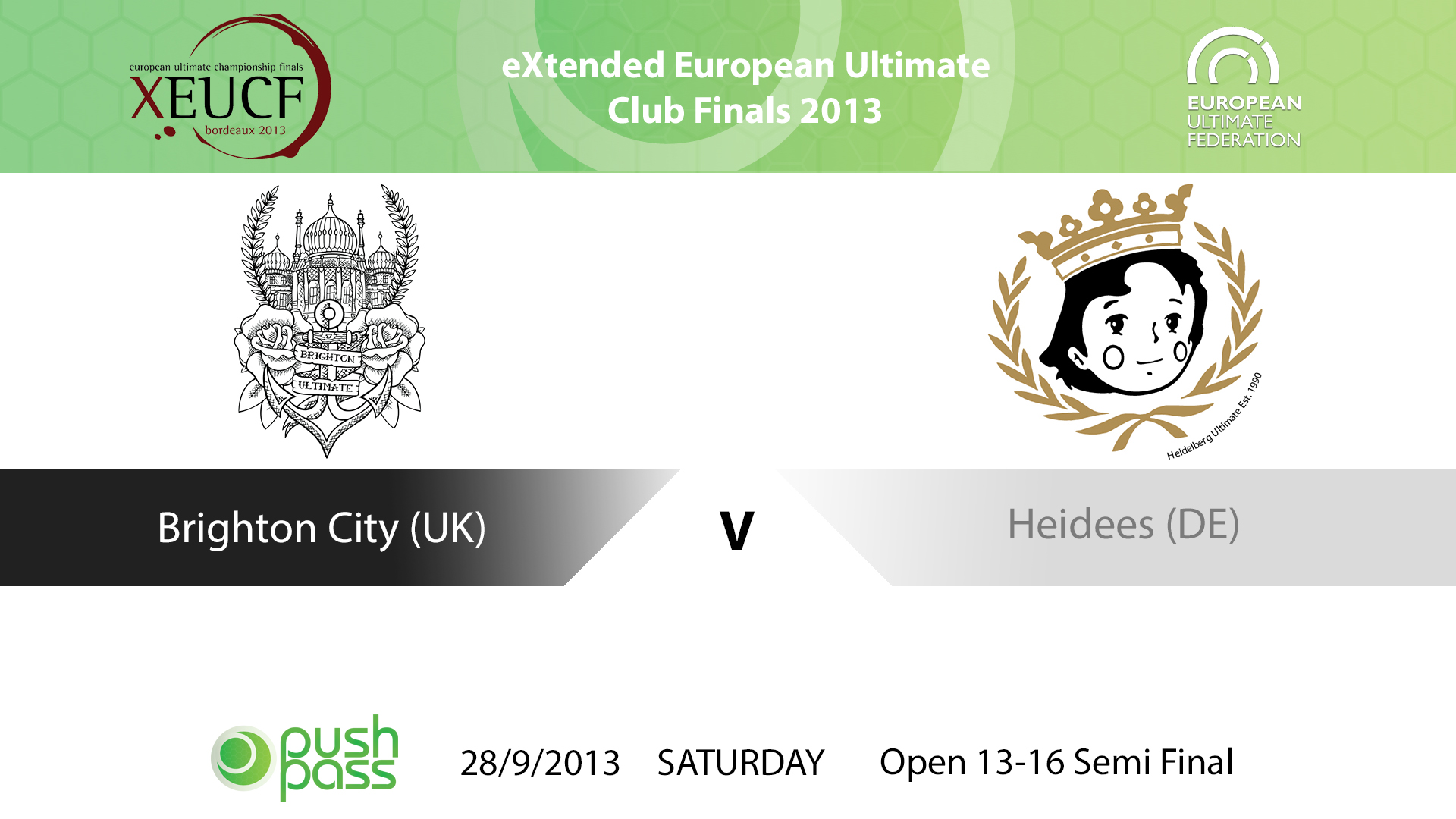 XEUCF 2013: Open - Brighton City v Heidees