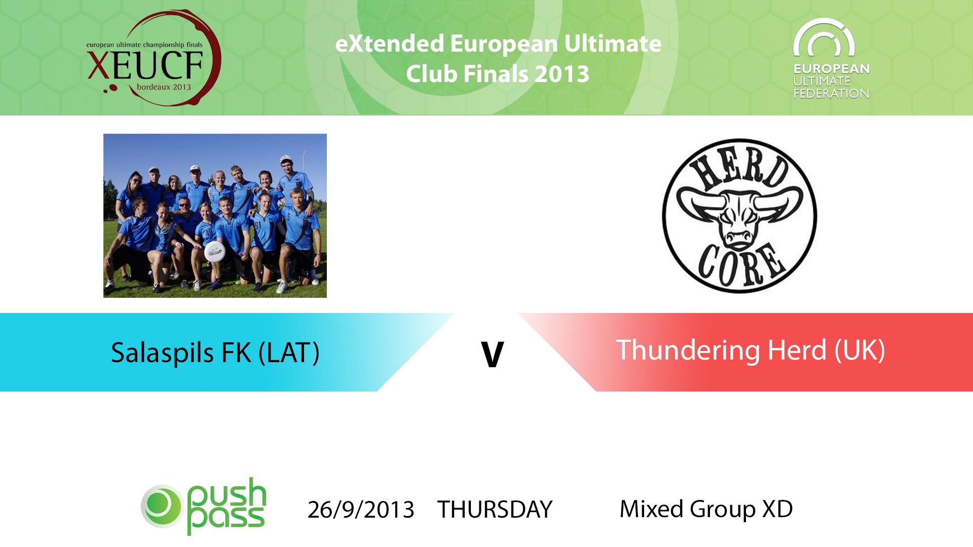 XEUCF 2013: Mixed - Salaspils FK v Thundering Herd
