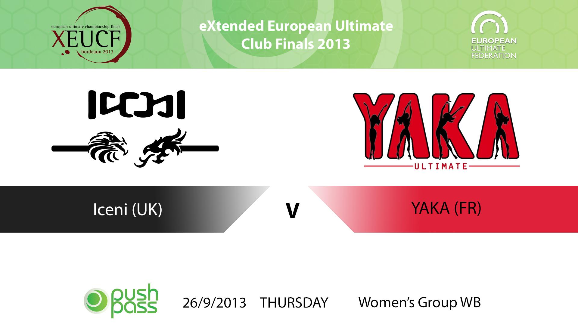 XEUCF2013: Women's - Iceni v YAKA