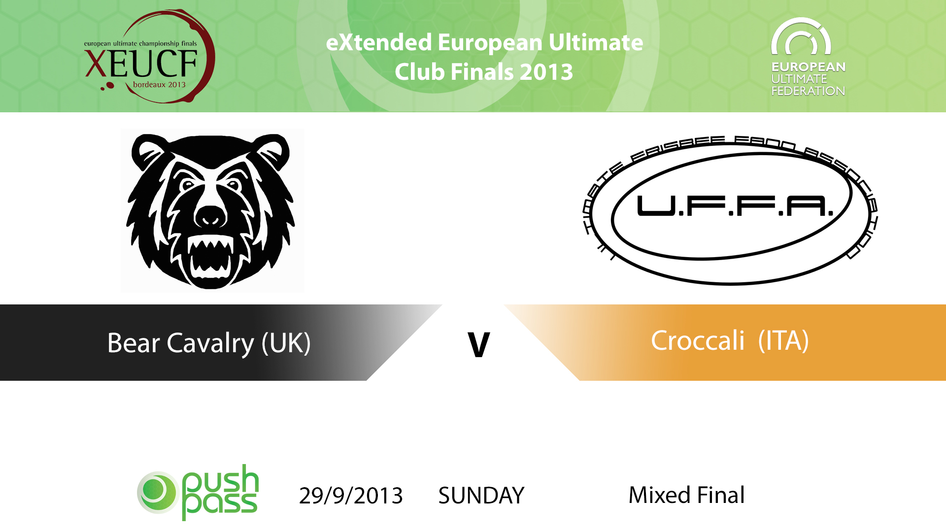 XEUCF 2013: Mixed Final - Bear Cavalry v Croccali