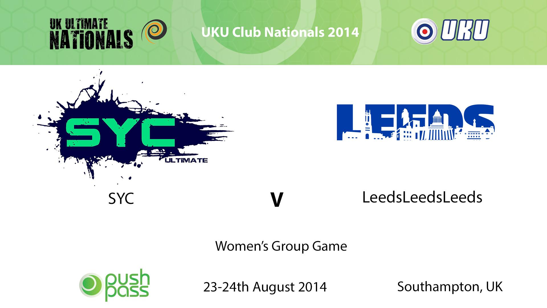UKU Club Nationals 2014: Women's Group - SYC v Leeds