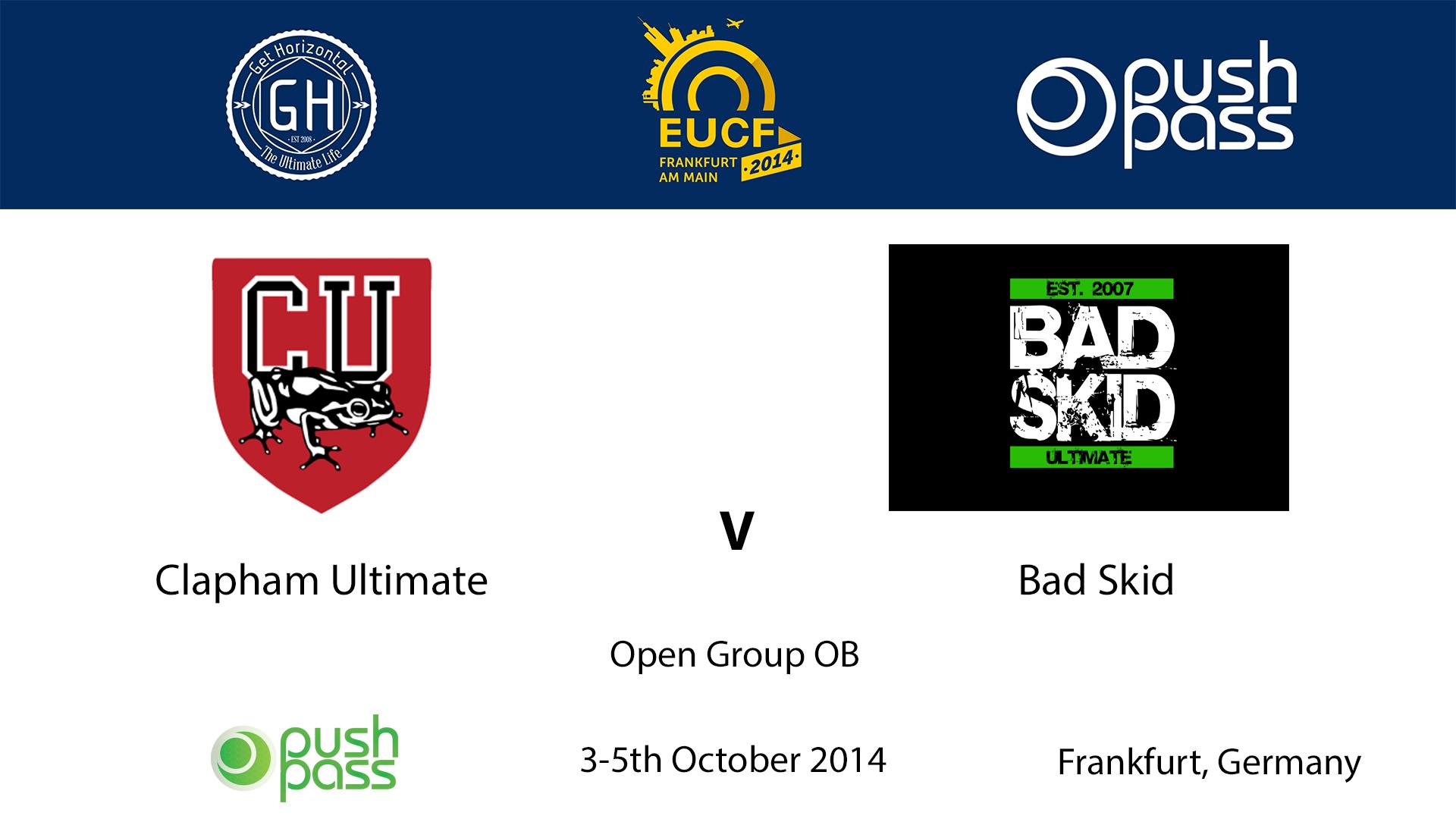 EUCF 2014: OB - Clapham v Bad Skid