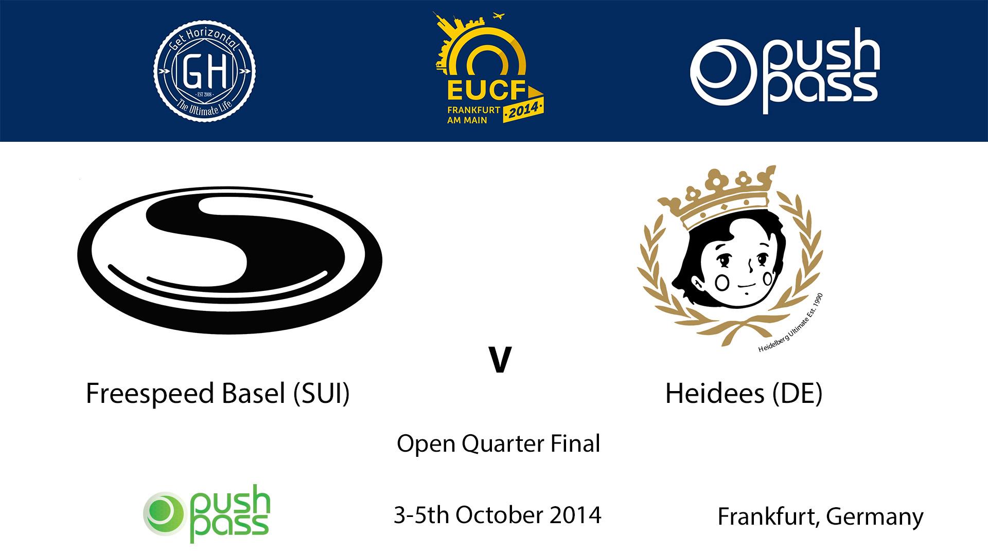 EUCF 2014: Open Quarter - Freespeed (1) v Heidees (8)