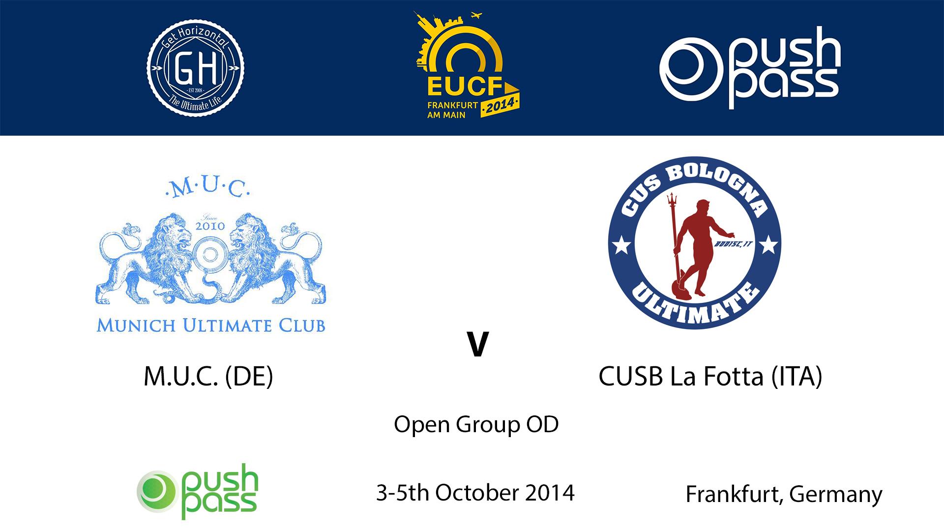 EUCF 2014: OD - M.U.C. v CUSB La Fotta