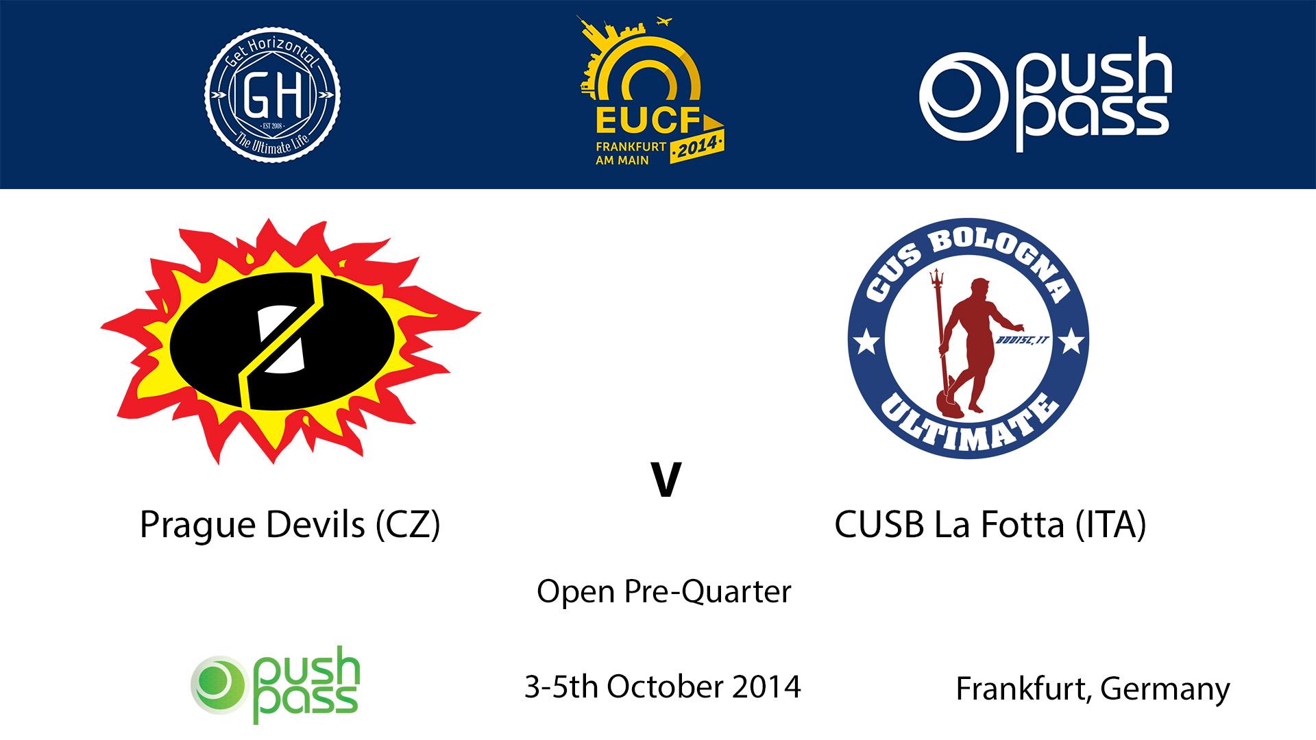 EUCF 2014: O - Prague Devils v CUSB La Fotta