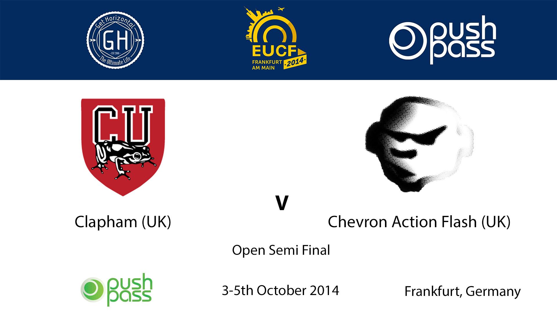 EUCF 2014: Open Semi - Clapham v Chevron