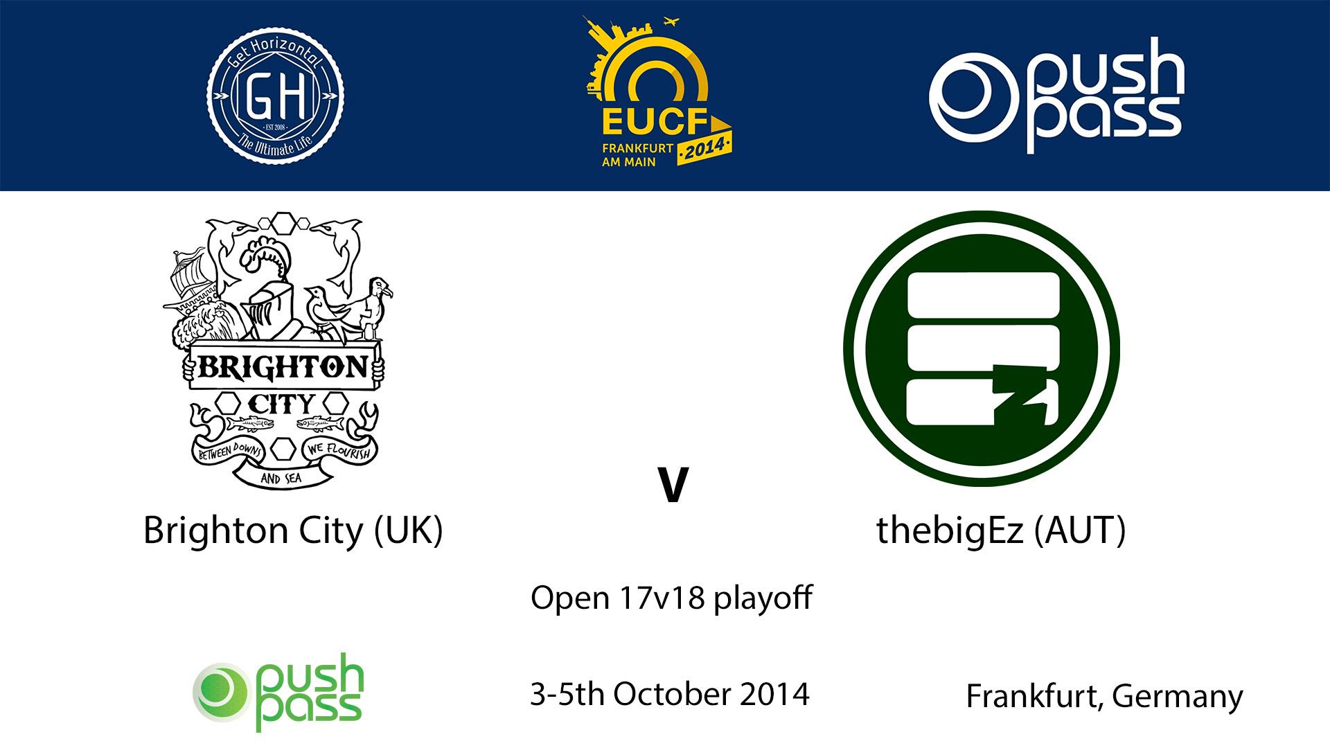 EUCF 2014: O - Brighton City v thebigEz