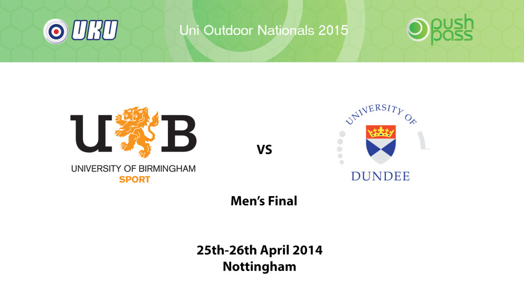 UOWON 2015: O-Final - Birmingham v Dundee