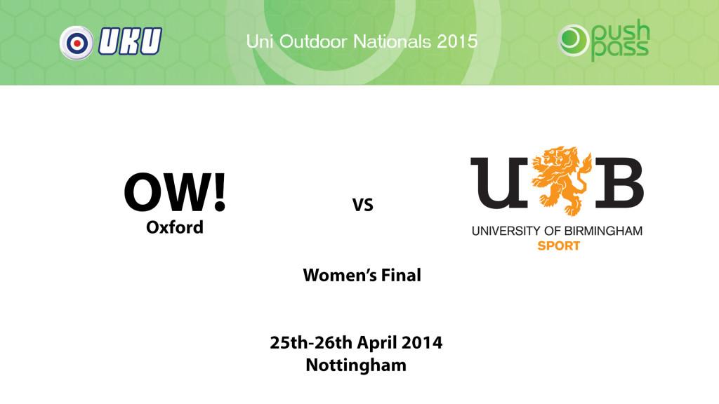 UOWON 2015: W-Final - Oxford v Birmingham