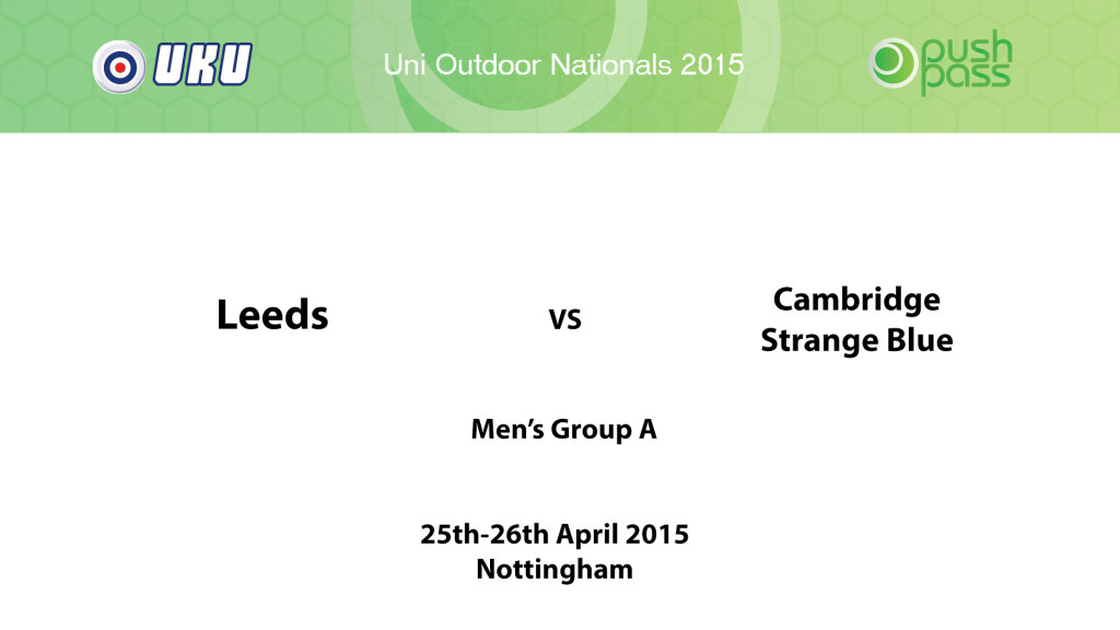 UOWON 2015: OA - Leeds v Cambridge