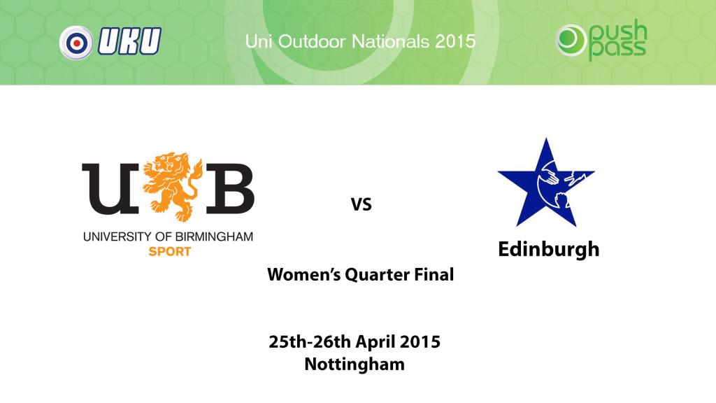 UOWON 2015: W-QF - Birmingham v Edinburgh