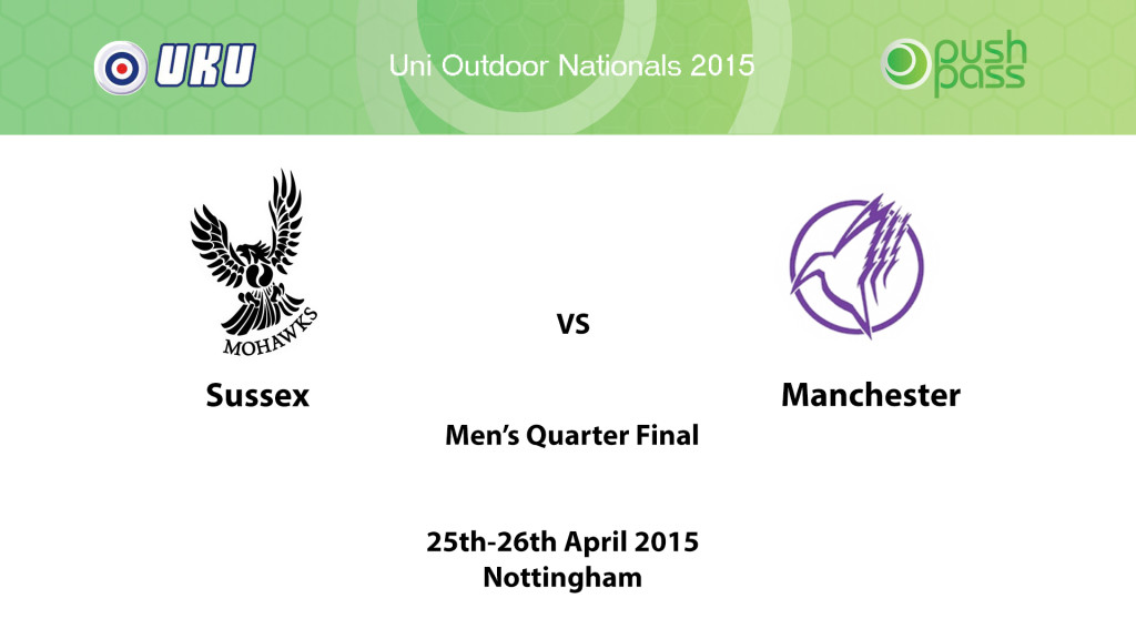 UOWON 2015: O-QF - Sussex v Manchester