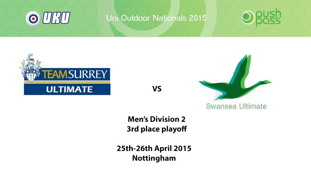 UOWON 2015: O-Div2-3v4 - Surrey v Swansea